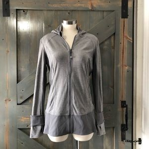 Lululemon Gray Zip Up Hooded Jacket Size 12